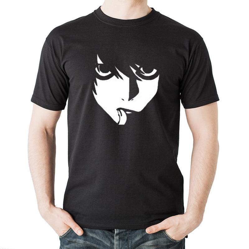 Tops Summer Cool Funny T-Shirt Death Note 2017 Cartoon Tee Shirt Men Short Sleeve Funny Tops Fashion Cool Men's Tshirt Top