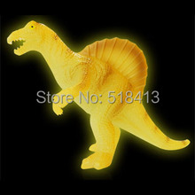 Luminous dinosaur toys &gifts fluorescent glow toy set decoration animal models triceratops stegosaurus gifts for children