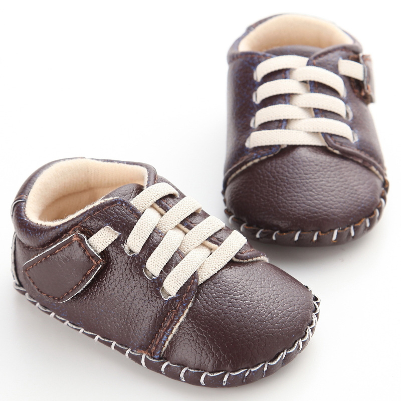 Newborn Baby Boys Kids First Walker Infant Fashion Soft Rubber Soled Sneakers