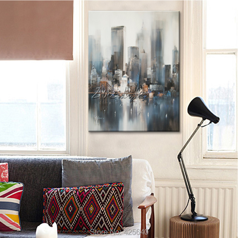 New York City Painting Home Decor Home Decoration Oil Painting Wall