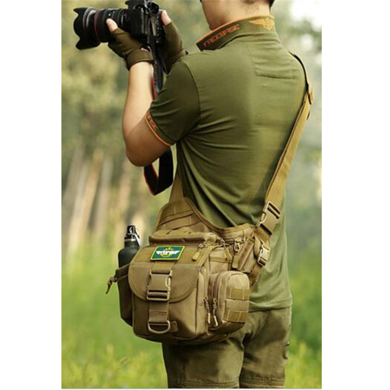 Men Military Messenger Bag Nylon Man DSLR Camera Handbags Waterproof Male Saddle Shoulder Bags camouflage School bag