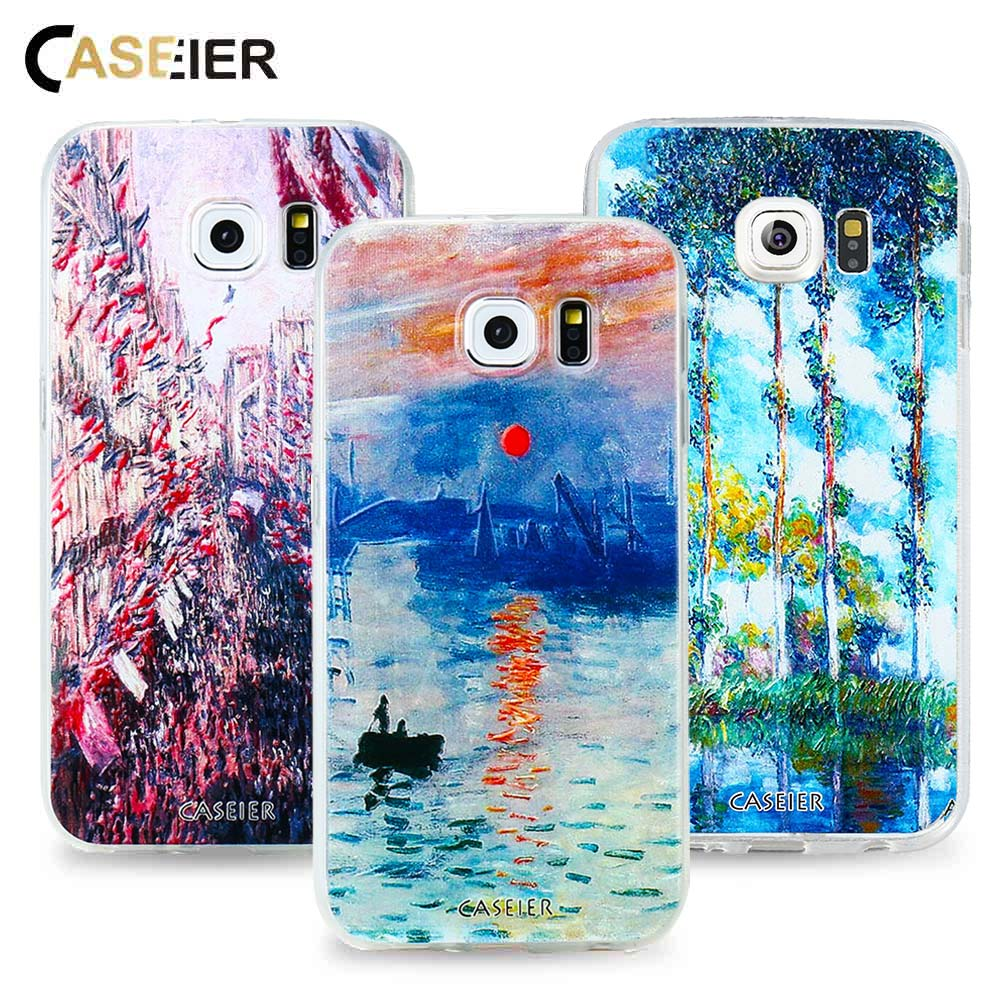 CASEIER Monet's Painting Phone Case For Samsung Galaxy S8 Plus S6 S7 Edge Note 8 Cases Luxury Silicone Cover Shell Coque Capinha