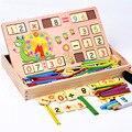 Materiais de Montessori de madeira educação matemática brinquedos crianças aprendizagem educação precoce das crianças matemática ábaco brinquedo W209