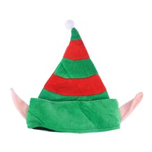 079e19a269cce 1 pc Christmas Elf Hat Funny Creative Cute Flannelette Cap Decor Props for  Cosplay Holiday Adults