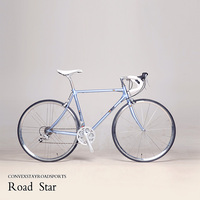 700C road bike 27 speed bike retro bicycle CR MO frame / fork city bike other colors can be customized
