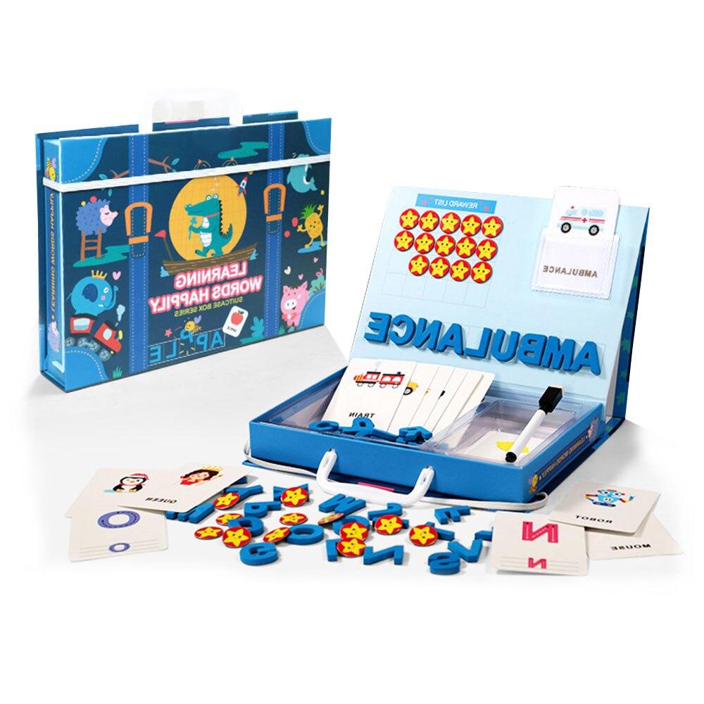 Jouets éducatifs pour enfants lettres Alphabet Figure orthographe jeux cartes anglais mot Puzzle Playset amusant jouets d'apprentissage précoce