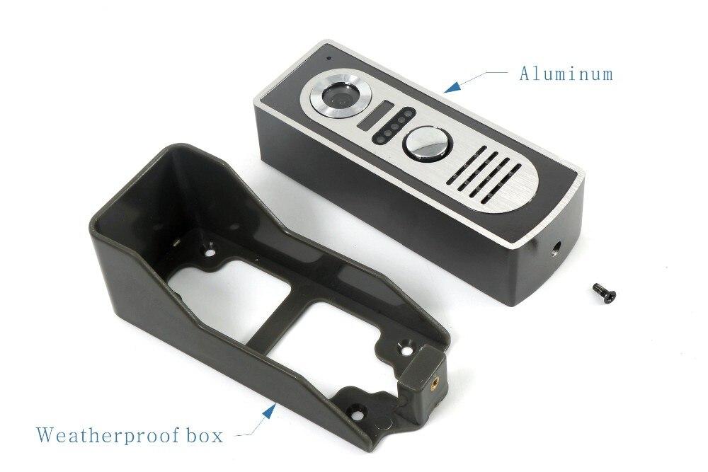 3V3 7 Inch Monitor Water-Proof IP66 Wired Intercom Video Door phone