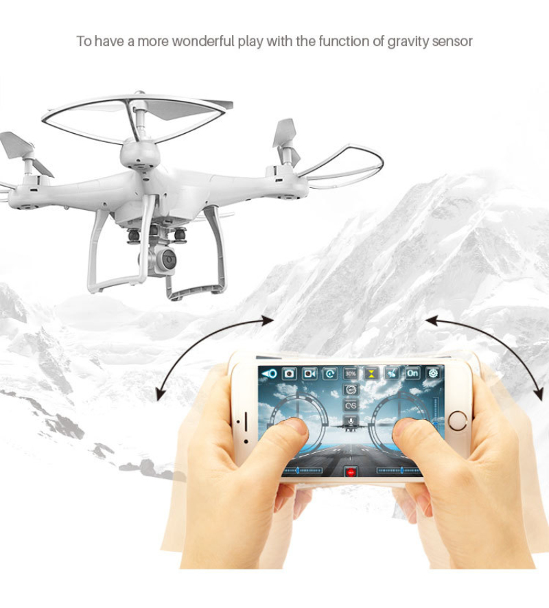 wifi fpv remote control rc drone S10 with 720P wide camera headless mode one-key return remote control rc quadcopter kids gifts купить недорого в Москве