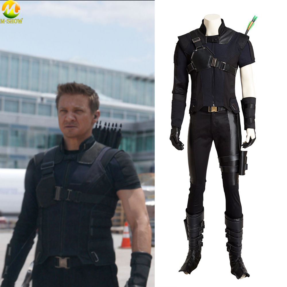 Hawkeye Cosplay Costume Captain America Civil War Hawkeye Cosplay Costume Carnival Halloween Superhero Costumes For Men