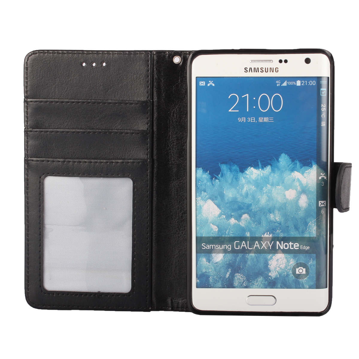 best loved 9dd94 7cc55 Photo Frame Cover For Samsung Galaxy Note Edge Case Wallet Leather Soft  Inner Book Coque Etui For Galaxy Note Edge N915 Capinha