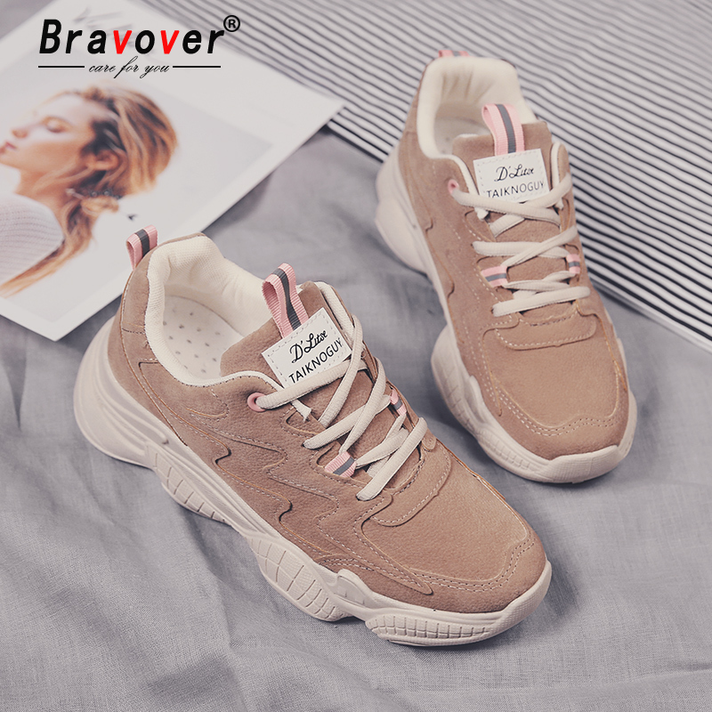 New Women Fashion Clunky Sneaker Casual Fur Suede Shoes Leather Platform Plush High Dad Shoes Ladies Thick Bottom Shoes suede