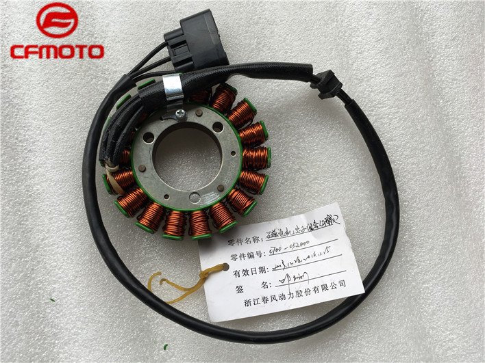 Magnetic motor stator suit for cfmoto 650NK/ 650TR parts no. is 0700-032000 front and rear brake pads of cfmoto cf650 2 tr 650nk cf motorcycle parts no is a000 0801a0 a000 0801b0a000 0802b0