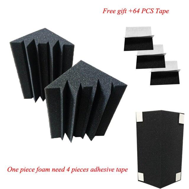 16 PCS Bass Trap Acoustic Panels Absorption Foam Music Treatment For Studio Best price