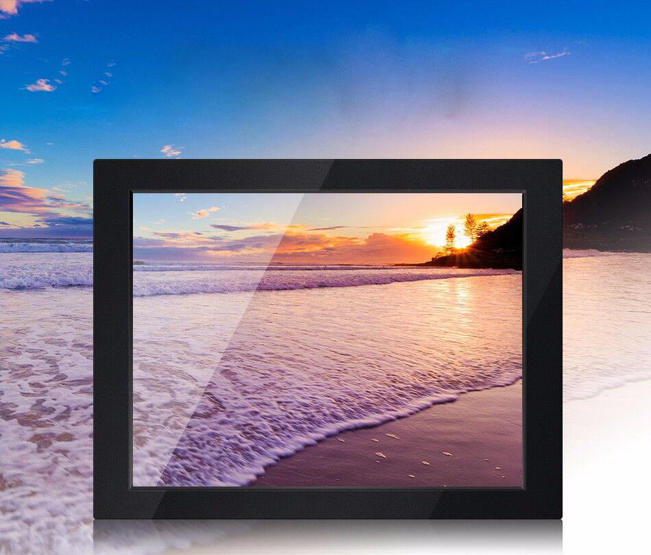 High Resolution And High Brightness 17 Inch Industrial Monitor For Panel Mount With Rugged Frame