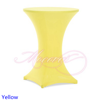 Yellow Colour Colour Table Cover Cocktail Table Cloth Lycra High Bar Table  Linen Wedding Party Hotel Table Decoration On Sale In Tablecloths From Home  ...