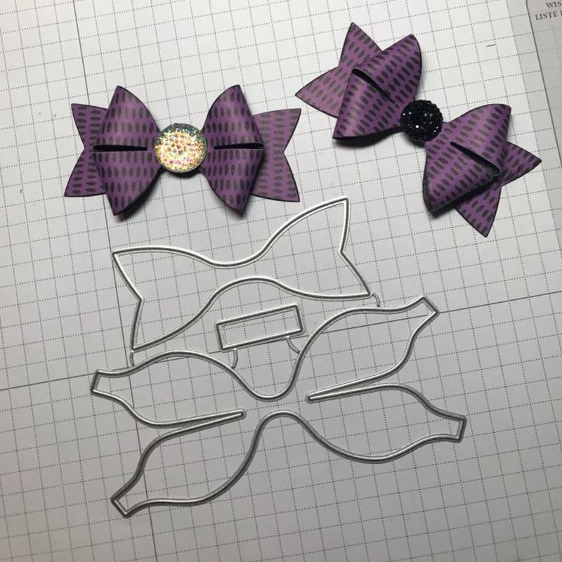 Swovo здания 3D Лук Свадебный галстук новый прошитый металлический Трафарет DIY Скрапбукинг марки ремесло тиснение решений трафарет умирает