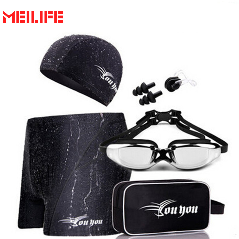 ФОТО UMLIFE Diving Accessories Protect Ears Men Women Black Swimming Cap For Long Hair Adults Print Male Female Sports Pool Athletics