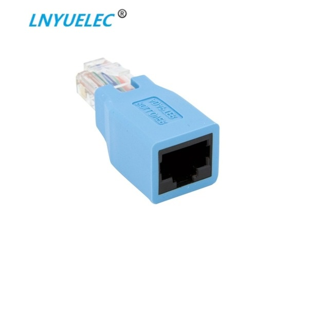 1pcs RJ45 CAT5 CAT5E Network Ethernet Connector Male To Female Cable Cross Adapter New
