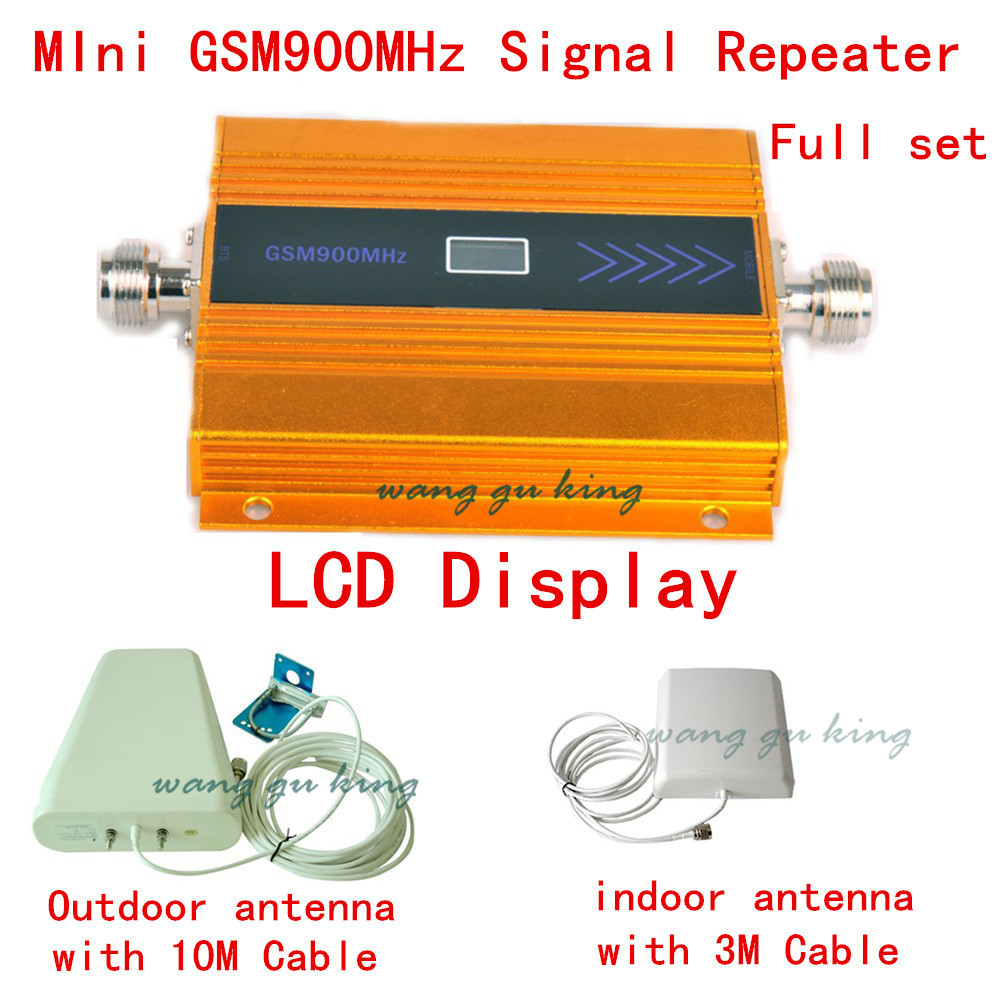Full Set 900MHz GSM Repeater Cell Phone Signal Booster GSM Signal Amplifier , Mobile Phone Signal Repeater Amplifie LCD Display
