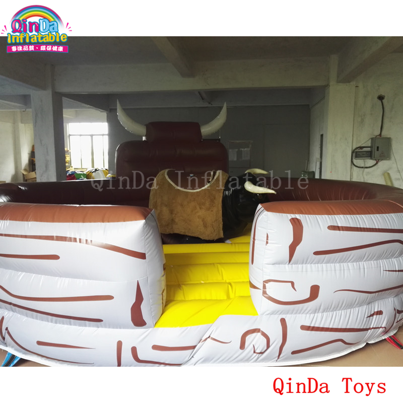 Dia 5m inflatable mat for crazy bull riding,giant outdoor games inflatable bull ride mattress r001 crazy price pvc 5 5m long inflatable air tight arch