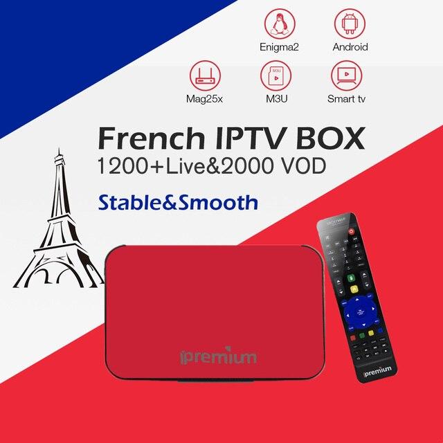 US $82 95 21% OFF|Best French IPTV Box AVOV TVonline Ipremium Mickyhop 2 0  tv box+1200 live IPTV Arabic French Belgium Morocco smart tv box-in Set-top