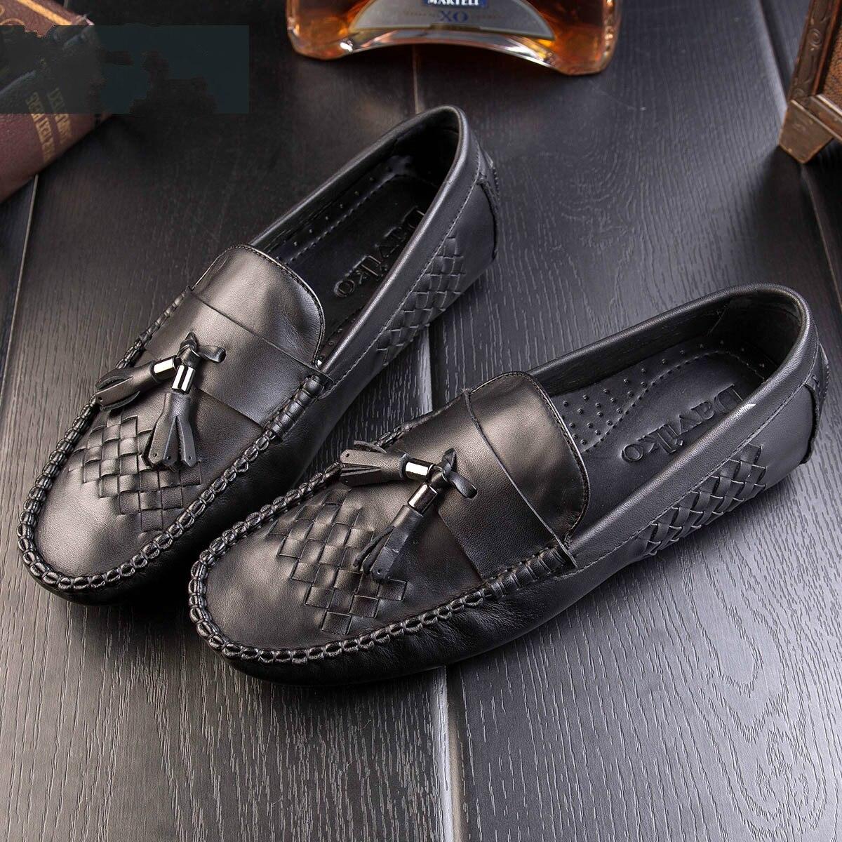 Sociale Noir Chaussures Conduite Marée Hommes De Pois Printemps TFc3J1lK