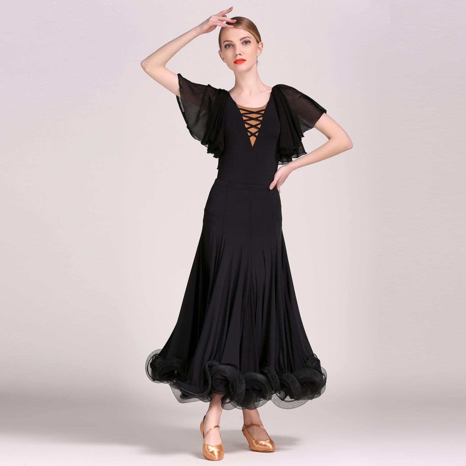 GB032 and S8025 Modern Dance Costume Top and Skirt Suits Dance Dress Ballroom Costume Women Lady Adult Evening Party Dress 1846 and 1847 latin dance top and skirt suits dance dress ballroom costume leotard women lady adult evening party dress