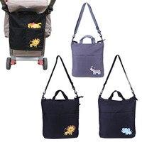 Oxford Cloth Baby Stroller Organizer Big Capacity Cartoon Waterproof Baby Carriage Bag Baby Stroller Organizer Accessories