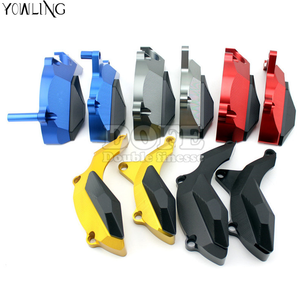цена на Motorcycle left&right Frame Sliders Protector fairing fall protection For Yamaha YZF R3 R25 YZF-R3 YZF-R25 2014 2015 2016