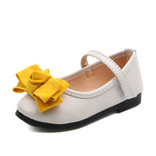 Xinfstreet Girls Shoes Leather Cute Bow Little Kids For Children Designer Princess School Size 21-36