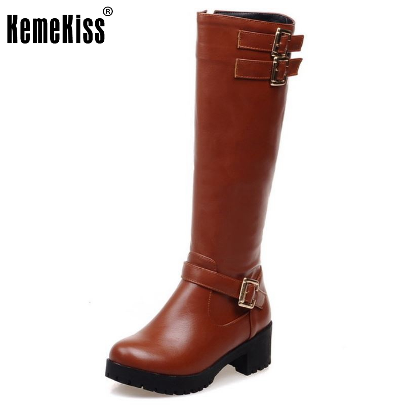 Women High Heel Over Knee Boots Fashion Snow Long Boot Warm Winter Brand Botas Riding Footwear Heels Shoes Size 34-43