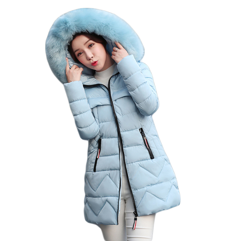 New Winter Jacket Women 2017 Fashion Slim Medium-long Cotton-padded Hooded Parka Female Wadded Jacket Outwear Winter Coat CM1728 new winter women jacket medium long thicken plus size outwear hooded wadded coat slim parka cotton padded jacket overcoat cm1039