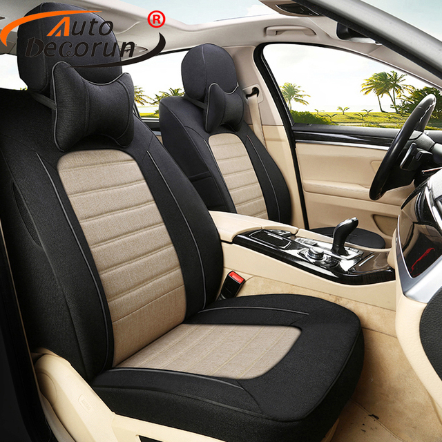 AutoDecorun Custom Fit Flax Seats Covers For Ford Mustang 2015 2016 Seat Cars Accessories