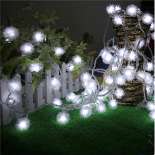 10M 100led Furry Ball Edelweiss 8 mode String Light AC220V colorful indoor/outdoor Ramadan Festival party Decoration Garland