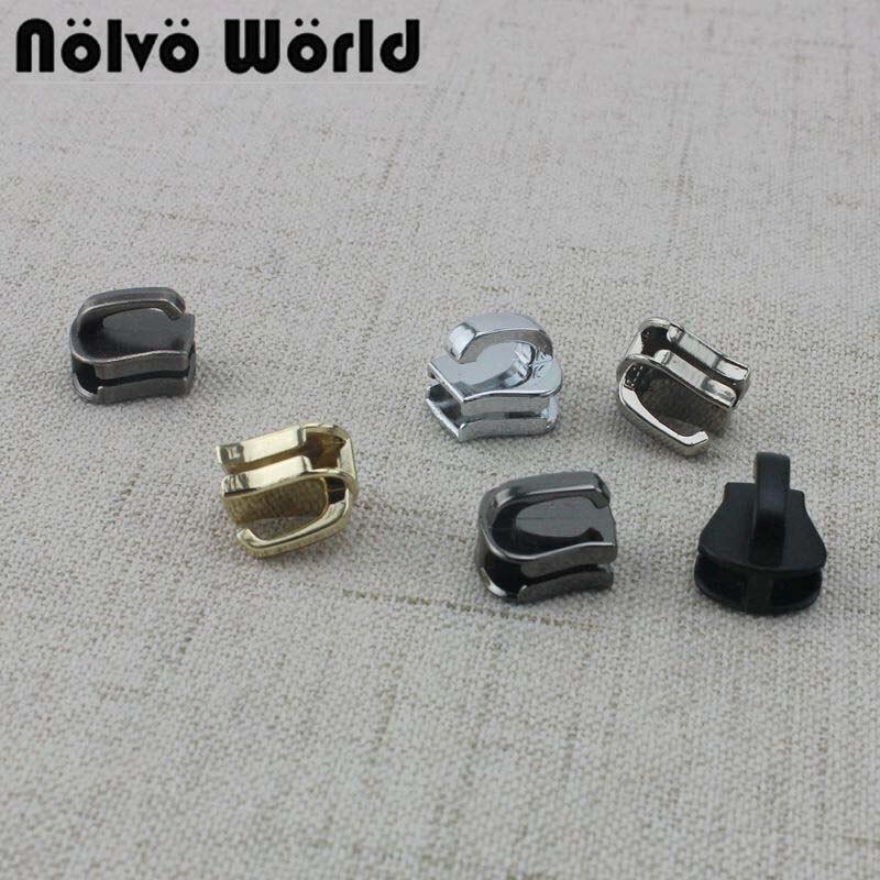 50-100pcs 6 Colors 5# Resin Teeth Zipper Head,bags,Sewing Garments Fabric Size 5 Plastic Zip Slider