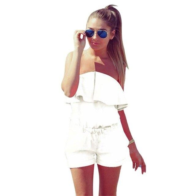 b546463f1 € 9.39  2017 Limited Elegante Mono Enteritos de Mujer Nuevas Mujeres  Atractivas Sin Tirantes Clubwear Playsuit Bodycon Del Partido Del Mono Del  ...