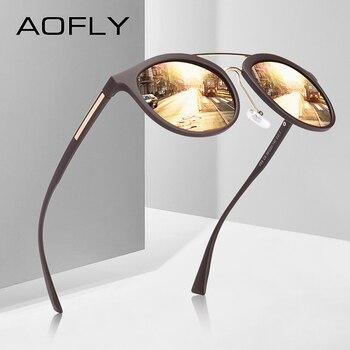 AOFLY BRAND DESIGN Klassieke Gepolariseerde Zonnebril Vrouwen Vintage TR90 Frame Rijden Zonnebril Mannen UV400 AF8094