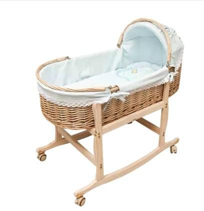 Handmade woven crib newborn portable sleeping basket ...