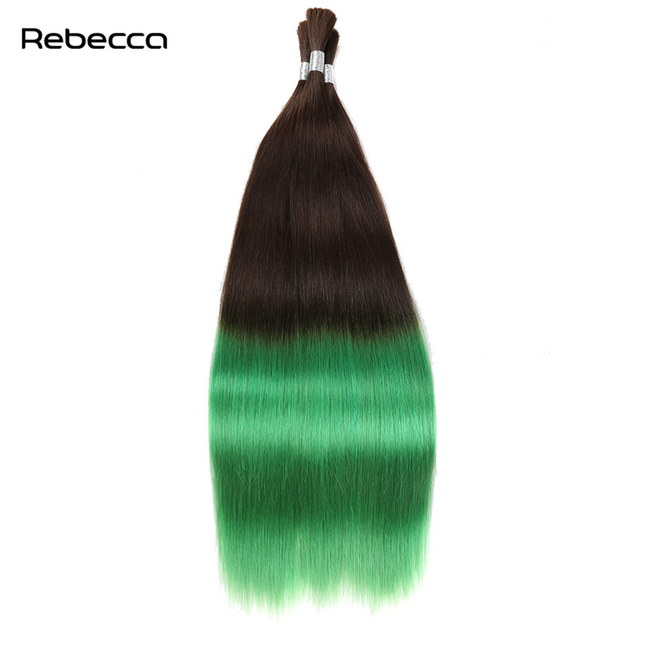 Ombre Bulk Brazilian Non Remy Human Hair For Braiding Natural Hair In Extension Rebecca Hair Products