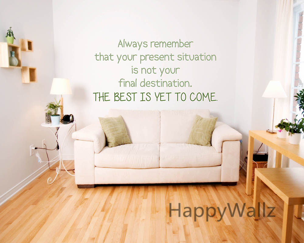 Motivational Quote Wall Sticker The Best is Yet to Come Inspirational Lettering Quote Wall Decals DIY Modern Wallpaper Q7 image
