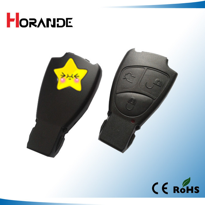 Horande Replacements 3 Buttons Remote Key Fob Case Cover For Mercedes Benz B C E ML S CLK CL with Logo