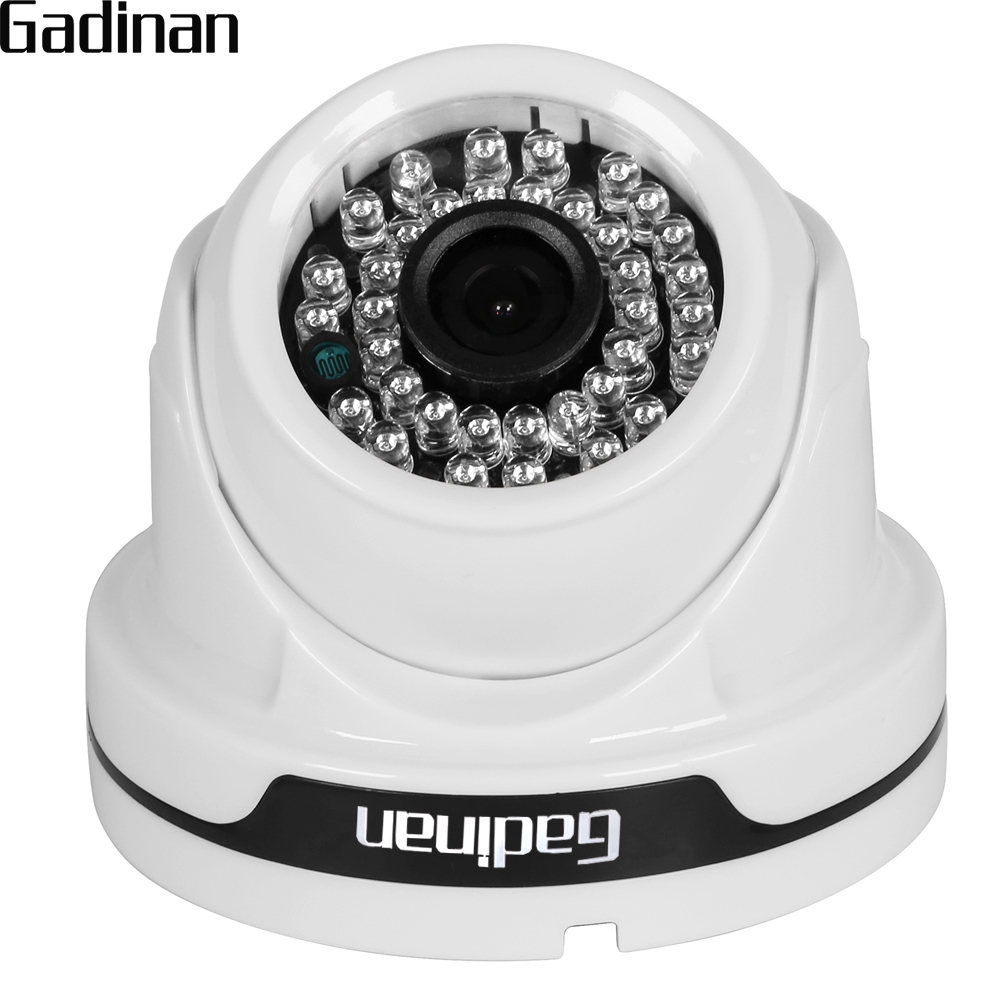 GADINAN ONVIF 2.8mm Wide Angle 1080P 960P 720P Dome Indoor IP Camera HD Network 36 IR Leds Xmeye Motion Detection CCTV Camera