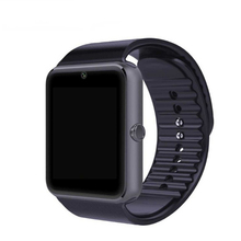 GT08 Notificador de Sincronização Do Relógio Inteligente Pedômetro Lembrete de Chamada Cartão Sim Suporte a Conectividade Bluetooth Iphone Android Telefone SmartWatch