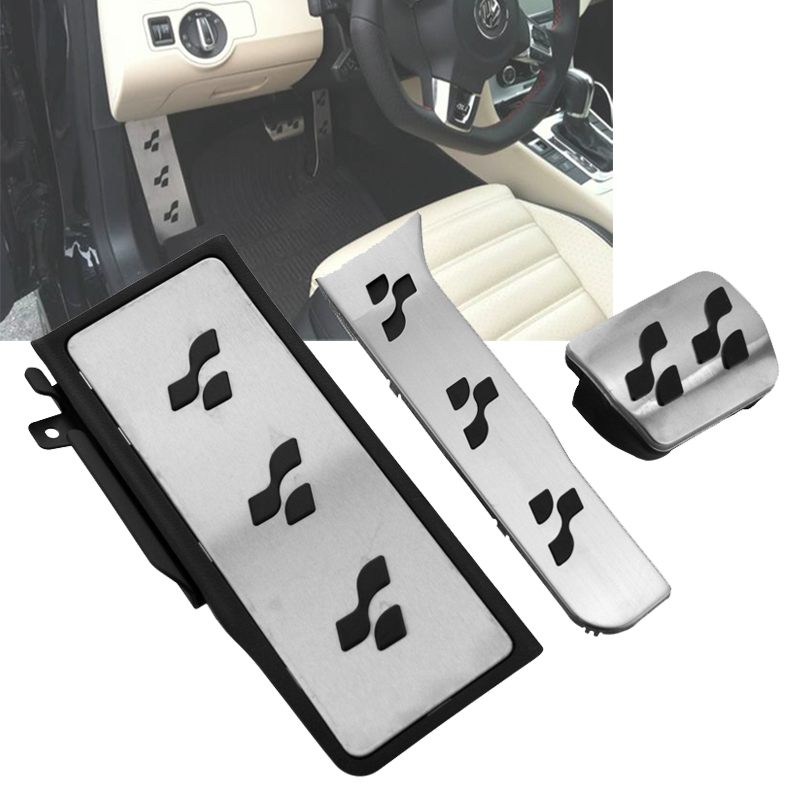 ФОТО For VW Passat B6 B7 CC R36 Style R-line Sport Fuel Brake Foot Rest AT Pedals