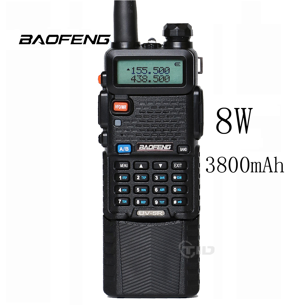 Baofeng UV 5R 8W Walkie Tlakie Dual Band Two Way Radio 3800mAh font b Battery b