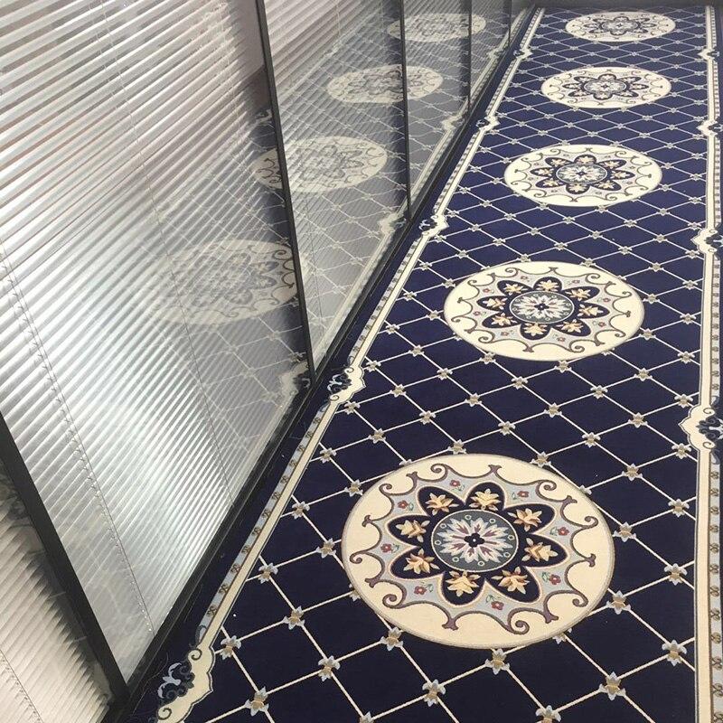 Tapis de coureur de longue taille pour l'escalier, tapis de couloir, tapis de sol rectangle, tapis de sol classique de décoration de maison, tapis de bienvenue