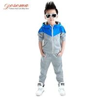 Dosoma Kids Clothes 2018 Baby Boy Spring Hooded Coats And Jackets Pants Set Korean Fashion Children