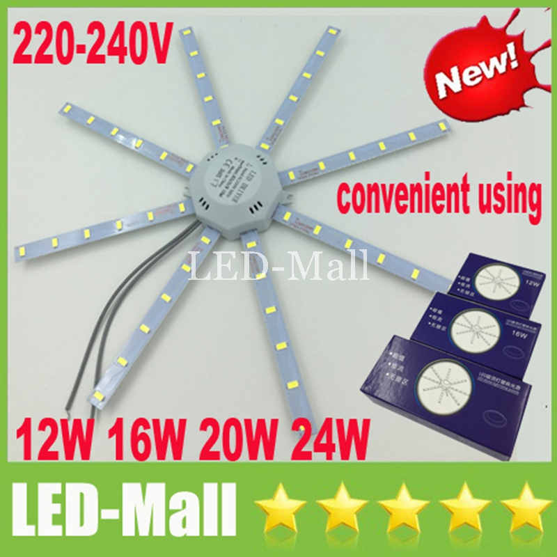 Easy Replace 12W 16W 20W 24W portable LED Panel Lights SMD 5730 With Magnet LED Round Ceiling Down Lights +Power Supply 220-240V
