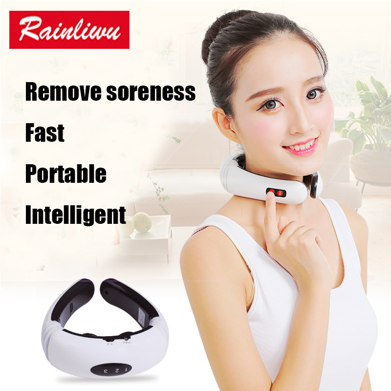 Cervical vertebra massager Impulse Treatment massage device Electric pulse Neck massager Acupoint magnetic therapy electromagnetic field therapy prostatitis symptoms treatment device help the prostate massager device rehabilitation for mens