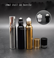 15/30/pcs 10ML Empty Glass Roll On Bottle For Essential Oils,Refillable Perfume Containers With Stainless Steel Roller Ball.